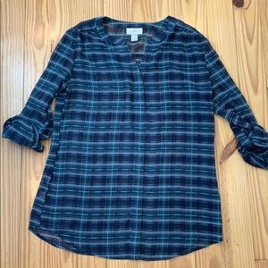LOFT Navy Blouse